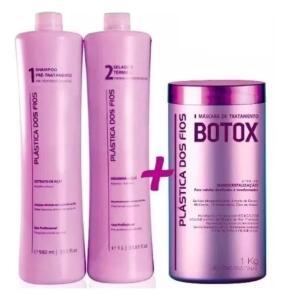 Plastica Dos Fios Kit Escova Progressiva + Botox Control 1 Kg R$ 39