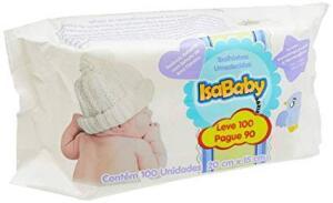 Toalha umedecida Isababy 100 un - 12 pacotes - R$51