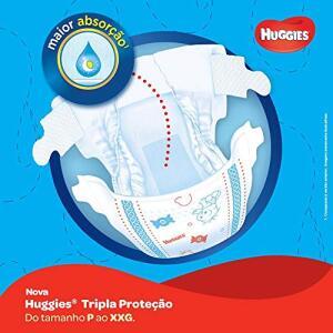 Huggies Fralda Tripla Proteção Hiper G, 78 Fraldas R$47