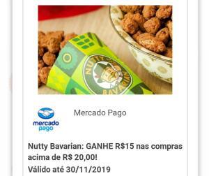 Ganhe R$15 acima de R$20 na Nutty Bavarian com o Mercado Pago