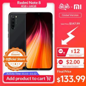 Xiaomi Redmi Note 8 4/64GB Versão Global - R$588
