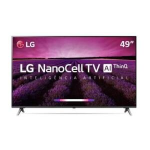 "Smart TV LG 49"" Nano Cell UHD 4K Controle Smart Magic 49SM8000PSA"