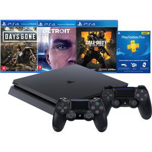 (CC Sub+AME R$1779 )Console Playstation 4 1Tb Hits Bundle Edição 5.1 + 2 Controles Dualshock 4 sem fio - PS4 R$1999