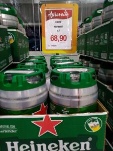 [Loja Física Assaí Contagem] Heineken 5L   R$69