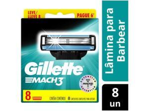 Carga Gillette Mach3 - 8 Unidades | R$37