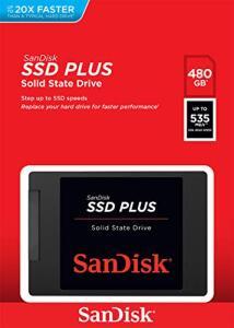 SSD SanDisk Plus 480GB | R$272