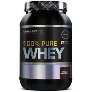 100% Pure Whey (900g) Sabor Chocolate - Probiotica | R$48