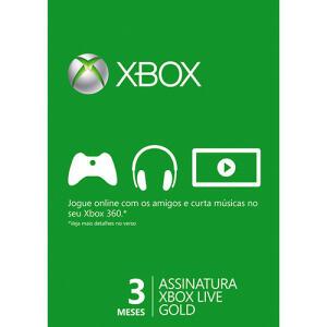 [Retirar na Loja] Live Card Microsoft Gold (3 Meses) - Xbox360 R$ 30