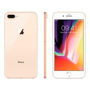 """iPhone 8 Apple Plus com 64GB, Tela Retina HD de 5,5"""", iOS 12, Dupla Câmera Traseira, Resistente à Água, Wi-Fi, 4G LTE e NFC R$2804"""