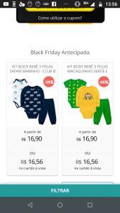 Kit Body Bebê 3 Peças Abelha Amarelo - Club B - R$16