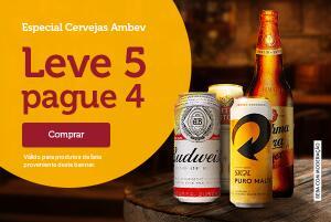 Promoção cervejas leve 5 pague 4