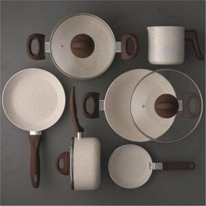[AME R$ 224,50] Conjunto De Panelas Ceramic Life Smart Plus 6 Peças Brinox R$ 449