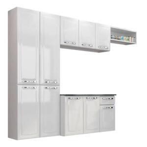 [AME R$ 359 ]Cozinha Compacta Amanda Itatiaia Branco Nevada R$ 599