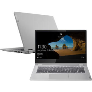 "[CC + AME R$ 2.856] Notebook Lenovo 2 em 1 Ideapad C340 8ª Core I7 8GB 256GB SSD FHD IPS 14"" W10   R$3.570"