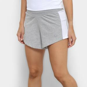 Bermuda Área Sports Down - Feminina - Cinza e Branco R$20