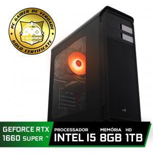 Pc Gamer T-soldier Lvl-4 Intel Core i5 9400F / GeForce GTX 1660 Super 6GB / DDR4 8GB / HD 1TB / 500W
