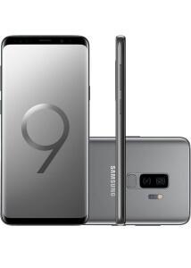 "(R$ 1.979 CC Americanas + Ame) Galaxy S9+ Dual Chip Android 8.0 Tela 6.2"" Octa-Core 2.8GHz 128GB 4G Câmera 12MP Dual Cam - Cinza R$2474"