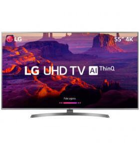 "TV 55 LG UHD SMART WEBOS 55UK6540PSB Tela 55"" 4K HDR R$2.400"