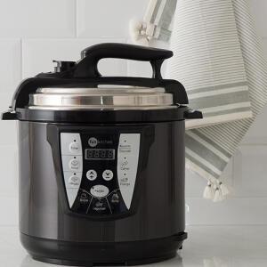 [R$191 AME+APP] Panela de Pressão Elétrica 6L All Black Fun Kitchen | R$225