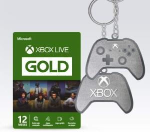 Microsoft Xbox Live Gold - 12 Meses + Chaveiro R$ 130