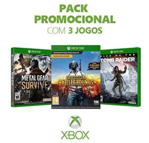 [Amazon Prime] Kit 3 Jogos Xbox One: Metal Gear Survive + PUBG + Rise of the Tomb Raider por R$115 com frete grátis Prime