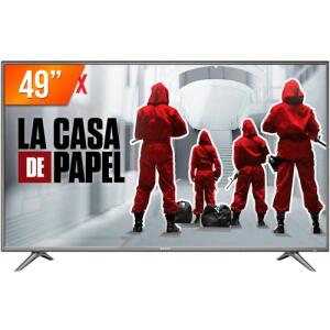 "[R$1.029 AME] Smart TV LED 49"" Semp 4K HDR 49SK6200   R$1.287"