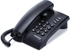 Telefone com Fio Pleno, Intelbras, Preto - Frete grátis Prime