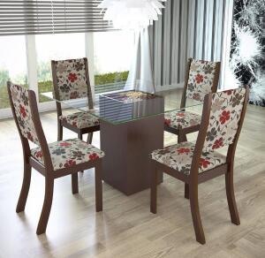 Mesa de Jantar com 4 Cadeiras Viero Via