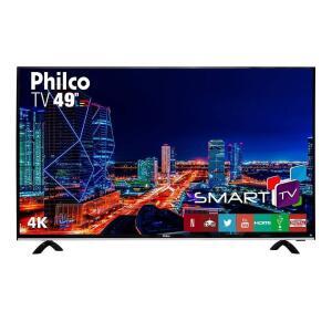 "Smart TV LED 49"" Philco Ultra HD 4K PTV49F68DSWN | R$1.599"