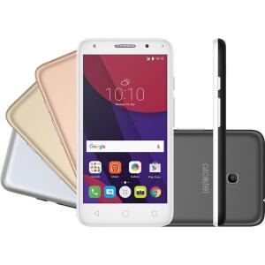 "[R$223 AME] Smartphone Alcatel PIXI4 5"" Metallic Dual Chip Android 6.0 Tela 5"" 8GB + 16GB   R$279"