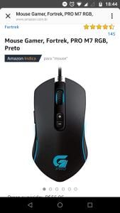 Mouse Gamer, Fortrek, PRO M7 RGB, Preto