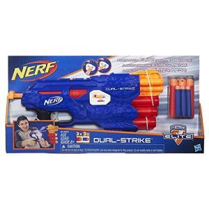 [Prime] Lança Dardo Nerf Elite Dual Strike Hasbro Azul | R$97