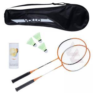 Kit Badminton Vollo Sports VB002 com 2 Raquetes, 3 Petecas e Raqueteira | R$59