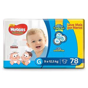 Huggies Fralda Tripla Proteção Hiper G, 78 Fraldas | R$40