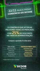 [Clientes Sicoob] Consórcios com taxas a partir de 5,6% (Somente 22/11)