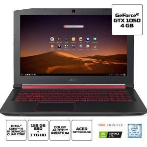 """[CC SUB] Notebook Acer ASPIRE NITRO 5, Tela 15.6"""", Intel Core i5-8300H, Quad Core, 8ª Geração - AN515-52-5771"""