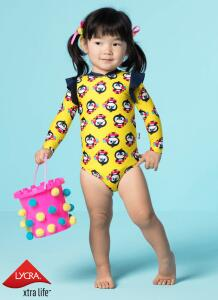 Maiô Manga Longa Pinguim Baby - Puket R$50