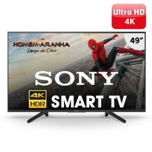 "Smart TV LED 49"" UHD 4K Sony BRAVIA KD-49X705F -R$1.989"