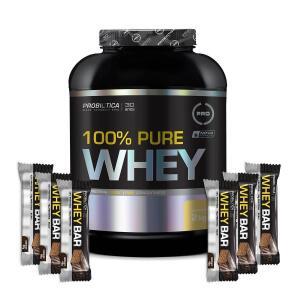 Kit Whey Protein 100% PURE WHEY + Probiótica (2kg)