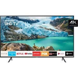 TV 58'' LED Samsung 58RU7100 Ultra HD 4K Smart TV com HDR Premium Bluetooth Entradas Som Dolby Digital Plus HDMI 3 e USB 2
