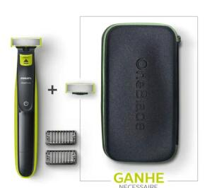 Kit Oneblade QP2522 + Lâmina Oneblade + Necessaire Philips 0de5 - R$160