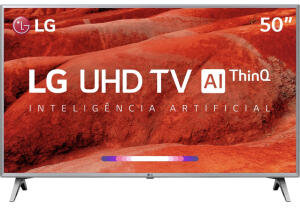 [ Com AME R$1.699] Smart TV LED 50'' LG 50UM7510 Ultra HD 4K