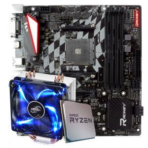Kit Upgrade Ryzen 3800x + Placa Mãe Biostar X470GTQ + Cooler Gammaxx 400