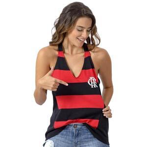 Regata Flamengo Feminina React Braziline - Vermelho e Preto