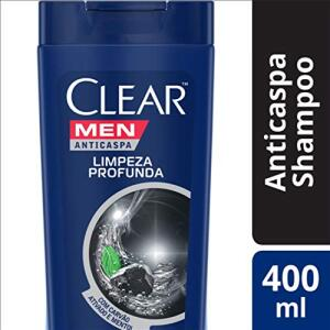 Shampoo Anticaspa Clear Men Limpeza Profunda 400 ML, Clear R$ 16