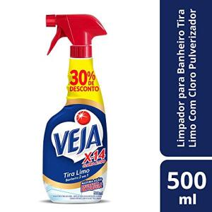 Limpador Banheiro X14 Tira Limo Cloro Ativo Pulverizador 500 Ml