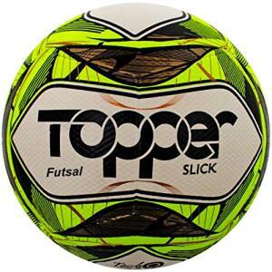 Bola Topper Slick II Futsal Amarela Neon R$ 27