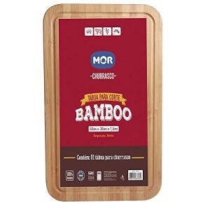(Frete Gratis Prime) Tábua Para Corte Bamboo 50cm X 30cm Mor - Grande
