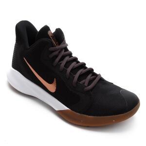 Tênis Nike Precision III - Preto e Bronze   R$240