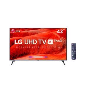 "Smart TV 43"" LG LED 4K com ThinQ AI Inteligência Artificial - 10x S/Juros"